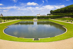 Big Pond From Villandry Chateau, Stock Photo