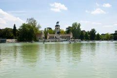 Big Pond in Retiro Park - Madrid - Spain Royalty Free Stock Image