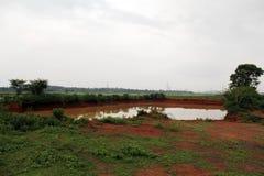 Big Pond in Village stock photos