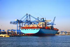 Loading Container Ship Royalty Free Stock Images