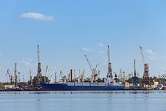 Big port Saint Petersburg Royalty Free Stock Images