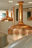 Big pot brewery boiler Royalty Free Stock Photography