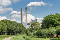 Big power plant in The Netherlands Royalty Free Stock Images