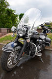 Big powerful luxury classic black motorcycle Stock Image