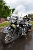 Big powerful luxury classic black motorcycle Stock Image