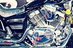 Big and powerfull motorcycle engine Stock Photo