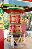 A big prayer wheel outside Hemis Monastery, Leh Stock Photos