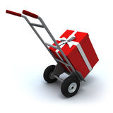 Big Present delivery Stock Image