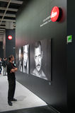 Big printing at leica stand at photokina Stock Photo