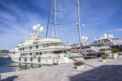 Big private yachts Royalty Free Stock Images