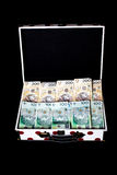 Big prize on lottery - Polish money in colorfull briefcase Stock Photo