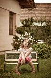 Big problems - child in garden Stock Photography