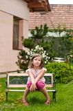 Big problems - child in garden Stock Photos