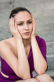 Big problems - worried woman Royalty Free Stock Photo