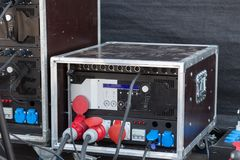 Stage amplifier in work Stock Photography