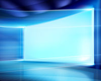 Big projection screen. Vector illustration. Royalty Free Stock Image