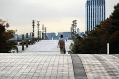 Big promenade in Tokyo  Royalty Free Stock Photography