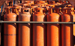 Big propane gas bottles Stock Images