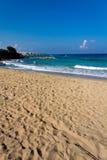 Big Protaras Beach, Cyprus , on a sunny day. Protaras Beach, Cyprus , on a sunny day Royalty Free Stock Image