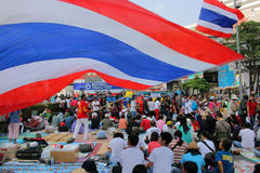 Big protest in thailand, bangkok Stock Photo