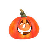 Big pumpkin with laughing face Stock Image