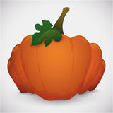 Big Pumpkin with Leaf and Stem , Vector Illustration Royalty Free Stock Photography