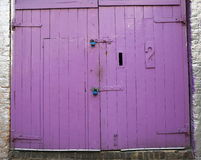 Big Purple Door Royalty Free Stock Images