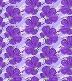 Big purple flower on purple brushed background Stock Photography