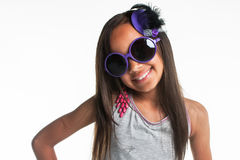 Big purple glasses. Royalty Free Stock Photography