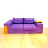 Big purple sofa Royalty Free Stock Photos