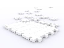Big puzzle unsolved Royalty Free Stock Photos