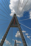 The Big pylon under construction. Megyeri bridge in hungary (almost Steven Colbert bridge Stock Photos