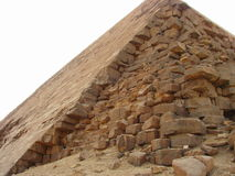 Big pyramids of Egypt. The brought-down pyramid corners. The brought-down pyramid corners Royalty Free Stock Image