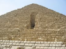 Big pyramids of Egypt. Entrance to a pyramid. Photos from a trip stock photography