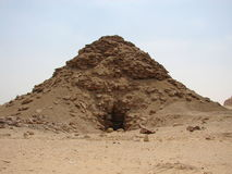 Big pyramids of Egypt. Entrance to a pyramid. Photos from a trip Stock Photos