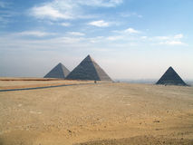 Big pyramids of Egypt Stock Images