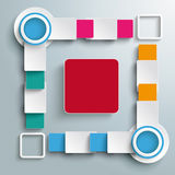 Big Quadrat Four Colored Batch Rectangles PiAd. Infographic design white circles on the grey background. Eps 10  file Royalty Free Stock Images