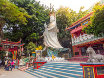 Big  Quan Yin statue at Kwum Yam Taoist shrine. Royalty Free Stock Images