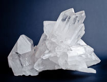 Big quartz crystals Stock Photos