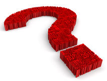 Big Question from 2010. 3d sign of question. White background Royalty Free Stock Image