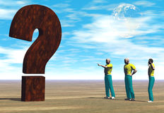 The big question Stock Image