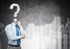 Big question in his head Royalty Free Stock Photo