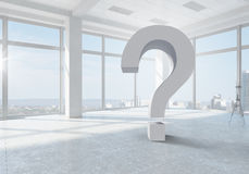 Big question of interior design Stock Photo