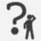 Big question mark Royalty Free Stock Photography