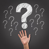 Big question mark Royalty Free Stock Images