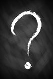 A big question mark. On chalkboard Royalty Free Stock Photo
