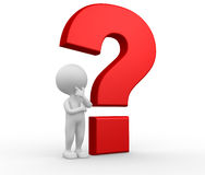 Big question mark Royalty Free Stock Image