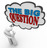 The Big Question - Thought Bubble Royalty Free Stock Images
