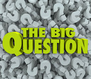 Big Question Words Question Mark Background Stock Photos