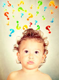 Big questions Royalty Free Stock Photo